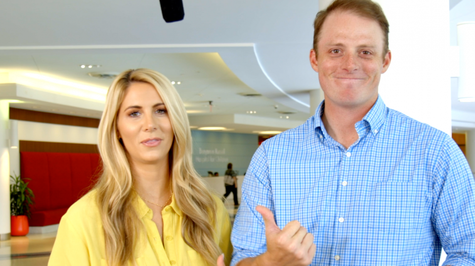 Fun with ESPN's Greg McElroy and Laura Rutledge in Birmingham