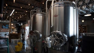 The Tap Room at Tallulah Brewing Company in Jasper. (Brittany Faush / Alabama NewsCenter)
