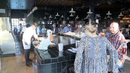 Restaurant design, service, bar and food work in concert at Automatic Seafood and Oysters. (Dennis Washington / Alabama NewsCenter)