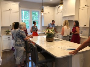 Members of the Auburn and Opelika Chambers of Commerce check out a kitchen filled with smart appliances. (contributed)
