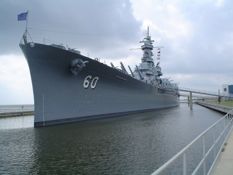 The USS Alabama at its home in Mobile. (Ben Jacobson, Wikipedia)