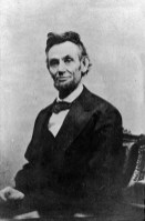 Abraham Lincoln (1809-1865) led the U.S. through the Civil War. In 1863, he signed the Emancipation Proclamation freeing enslaved peoples in former Confederate states. (From Encyclopedia of Alabama, courtesy of Library of Congress)