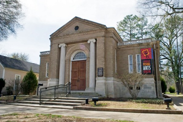 The Carnegie Visual Arts Center in Decatur, Morgan County, was built in 1904 as a library, one of more than 2,500 such facilities gifted by steel magnate and philanthropist Andrew Carnegie to cities and towns in the United States. In its current incarnation, the building is leased by the Decatur Arts Council and hosts art exhibits and education programs. (From Encyclopedia of Alabama, photograph by Joseph T. Richardson)