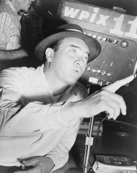 Mel Allen (1913-1996) of Birmingham was the voice of the New York Yankees for 25 years and is one of the most honored sportscasters in professional sports. His career spanned six decades and ranged from college football bowl games to Major League Baseball. Late in his career, Allen hosted This Week in Baseball. (From Encyclopedia of Alabama, courtesy of Library of Congress)