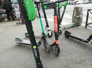 E-scooters are becoming more prevalent in some American cities. (Wikimedia Commons)