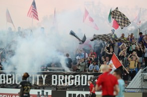 The Supporters Section at BBVA Field is manned by the Legion FC Supporters Group, The Magic City Brigade. (contributed)