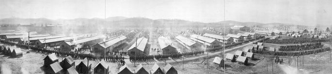 Camp McClellan, 1918. (Library of Congress, FortWiki)
