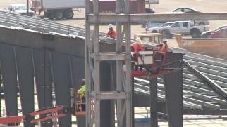 Construction continues on the new Talladega Garage Experience at Talladega Superspeedway. (Dennis Washington / Alabama NewsCenter)