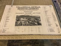 """A page of the drawings of the Talladega Superspeedway infield """"Transformation"""" project. (Dennis Washington / Alabama NewsCenter)"""