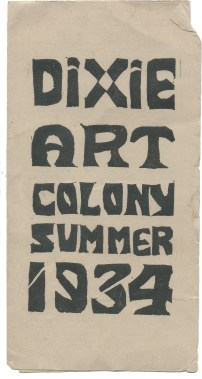 A brochure from the early days of the Dixie Art Colony. (contributed)