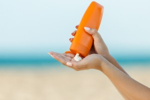 Sunscreen -- SPF 30 or higher -- is a must when you're outdoors in the summer. (Getty Images)