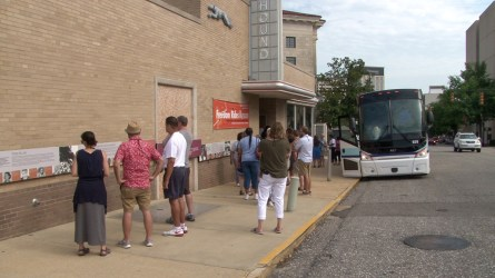 Participants tour the historic Greyhound Bus Station in Montgomery. (Dennis Washington / Alabama NewsCenter)