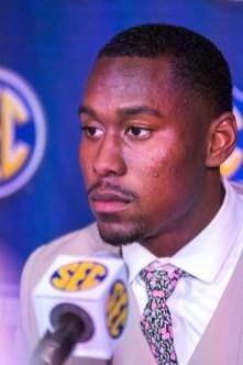 Georgia defensive back J.R. Reed at SEC Media Days 2019. (Dennis Washington / Alabama NewsCenter)