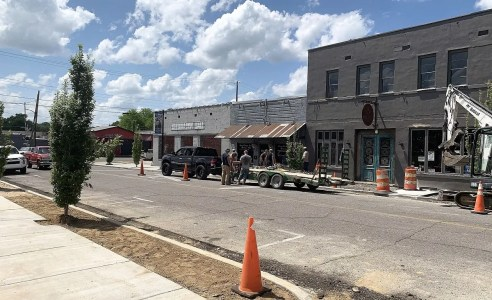 Downtown Jasper is enjoying a wave of revitalization and beautification. (Cierra Juett)