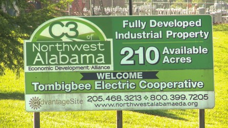 The Hamilton I-22 Industrial Park is one of 12 industrial parks within Marion, Lamar and Fayette counties helping to attract new businesses and jobs to northwest Alabama. (Dennis Washington / Alabama NewsCenter)