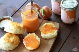 Peach jam is perfect on biscuits, scones, toast, muffins, pita bread, crackers, croissants, yogurt and more. (Southern Bite)