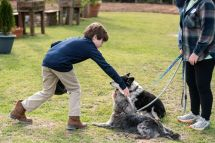 Dogs on Storybook Farm spread and receive lots of rubs and hugs. With this program, the children read to the dogs. (contributed)