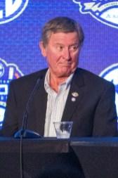 Steve Spurrier at SEC Media Days 2019. (Dennis Washington / Alabama NewsCenter)