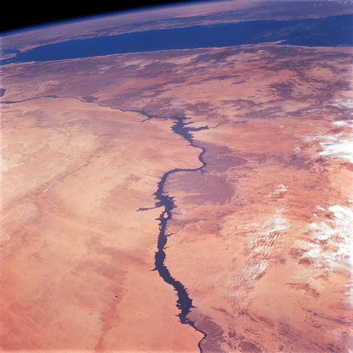 Apollo 9 photograph of the Nile River and Egypt taken from Earth's orbit on March 7, 1969. (NASA)