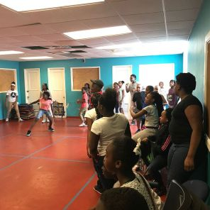 Student participate in a game while at Urban Ministry. (Keisa Sharpe)