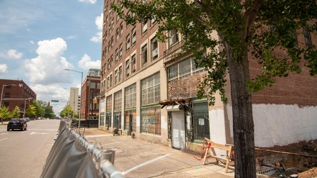 The American Life/Stonewall building has been vacant for 36 years. (Dennis Washington / Alabama NewsCenter)