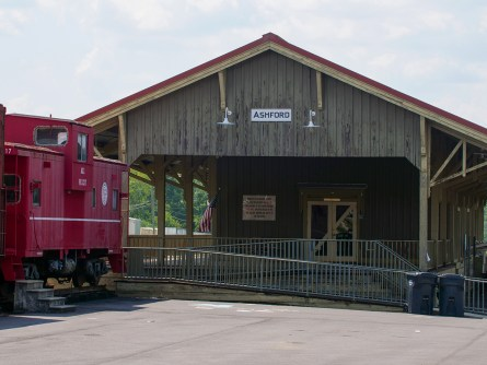 The historic train depot in downtown Ashford is used for many community events. (Dennis Washington / Alabama NewsCenter)