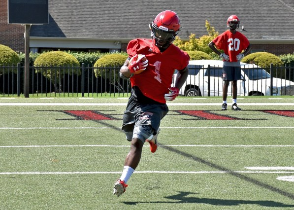 Eric Thomas, a first-team all-conference tailback last year, is back for another season with the Hawks. (Huntingdon College Athletics)