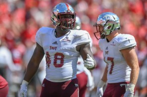 Marcus Webb is part of a strong defensive line for Troy this season. (Troy University Athletics)