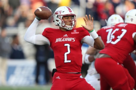 Quarterback Cephus Johnson had a great spring and summer, and should provide some excitement for South Alabama fans this season, Coach Steve Campbell says. (Scott Donaldson/South Alabama Athletics)