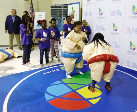 Students at Glen Iris Elementary School in Birmingham are being introduced to new sports, countries and cultures as part of a new program tied to the 2021 World Games. (contributed)