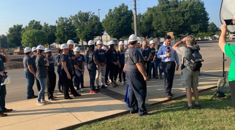 Loaned executives for the United Way of Central Alabama kicked off the fall campaign at the A. G. Gaston Boys and Girls Club in Bessemer. (Karim Shamsi-Basha / Alabama NewsCenter)