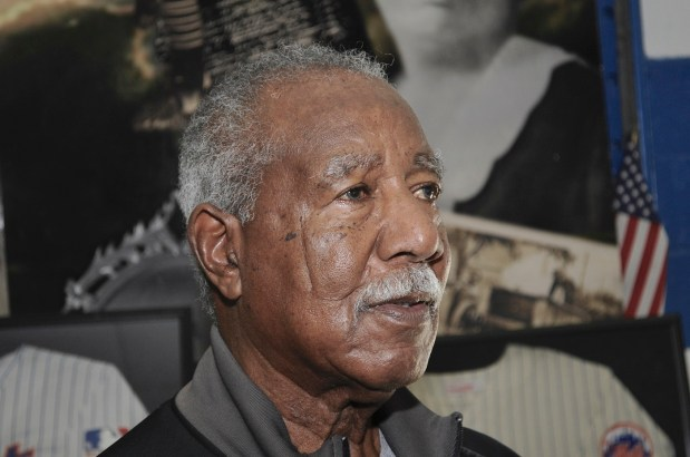 """Cleon Jones has supported Africatown in his hometown of Mobile after his baseball career that included the World Series win with the """"Miracle Mets"""" 50 years ago. (Karim Shamsi-Basha / Alabama NewsCenter)"""