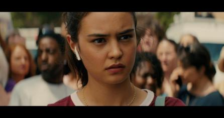 """Courtney Eaton plays reporter Ava in """"Line of Duty,"""" a movie filmed in Birmingham. (contributed)"""