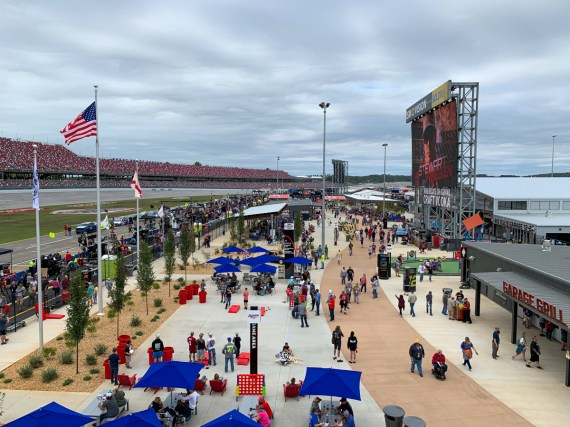 The Talladega Garage Experience is the centerpiece of the track's $50 million Transformation project. (Dennis Washington / Alabama NewsCenter)