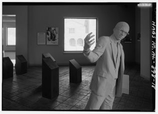 Interior of Civil Rights Institute, Milestone Gallery exhibition of the Sixteenth Street Church. (Photograph by Jet Lowe, Library of Congress Prints and Photographs Division)