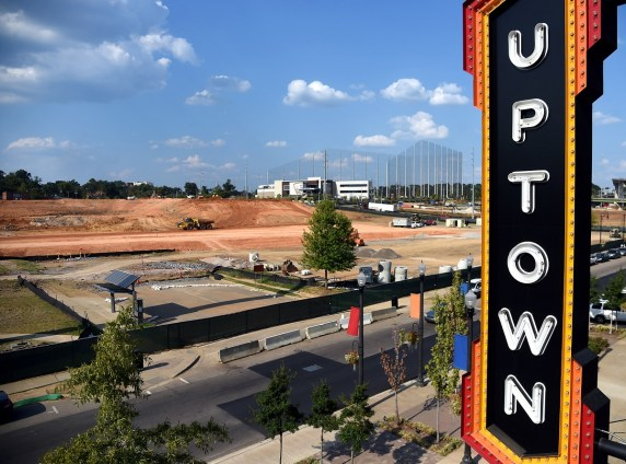 Site work continues for Protective Stadium near the Uptown entertainment complex. (Mark Almond/The Birmingham Times)