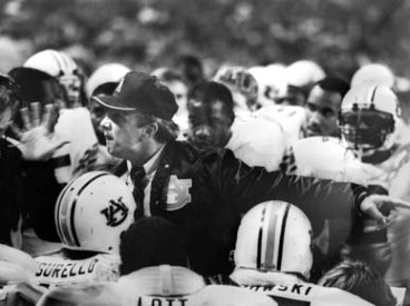 Pat Dye was named National Coach of the Year in 1983 and SEC Coach of the Year three times during his tenure at the helm of the Auburn Tigers football program. (From Encyclopedia of Alabama, courtesy of The Birmingham News)