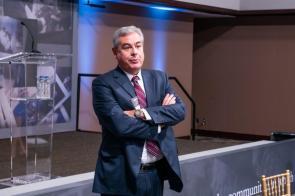 Alabama Power CEO Mark Crosswhite speaks at the Alabama Power Foundation's 30th Anniversary luncheon. (Nik Layman / Alabama NewsCenter)