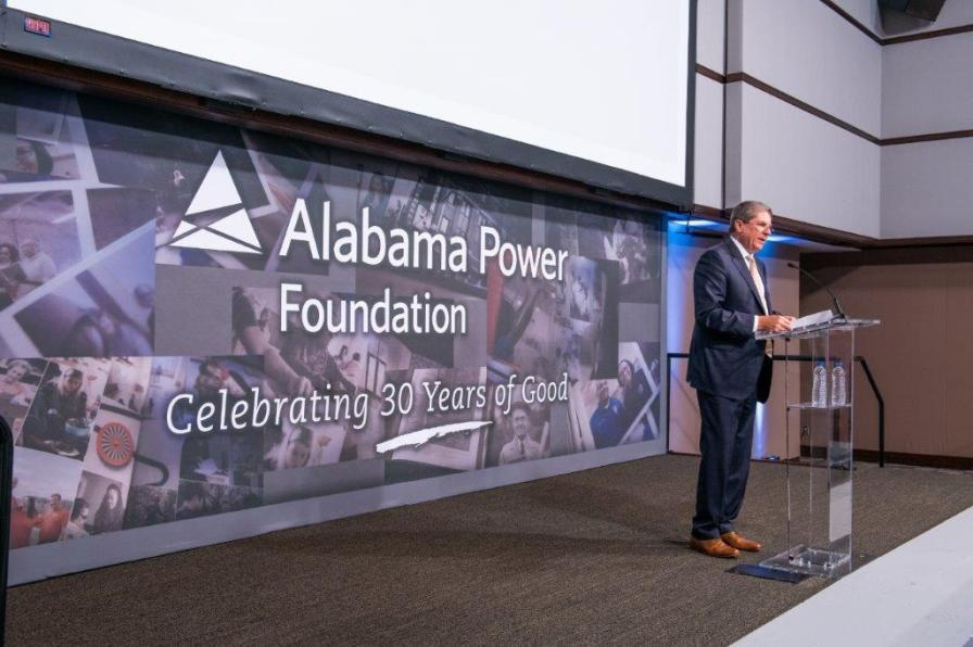 Zeke Smith, Alabama Power executive vice president of External Affairs, speaks at the Alabama Power Foundation's 30th Anniversary luncheon. (Nik Layman / Alabama NewsCenter)