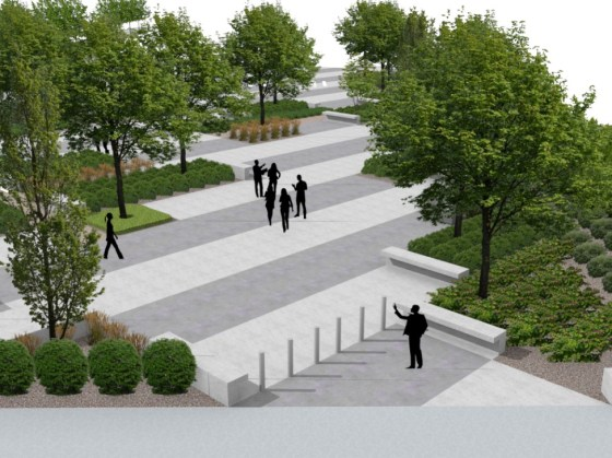 Renovation plans at the BJCC's Legacy Arena include extensive new landscaping. (BJCC)