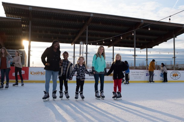 The skating rink and new ice slide will be open seven days a week through Jan. 5, closing only on Christmas Day. (contributed)