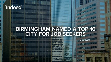 Indeed named Birmingham as a Top 10 city for jobs seekers. (BBA)