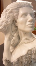 """Rapunzel"" by Frank Murphy, sculpted at the Sylacauga Marble Festival 2009. (Dennis Washington / Alabama NewsCenter)"
