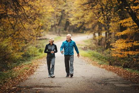 Get your heart pumping with a brisk walk for a fabulous new year. (Getty Images)