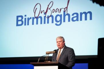 Interim BBA CEO Fred McCallum speaks at the BBA annual meeting. (BBA)
