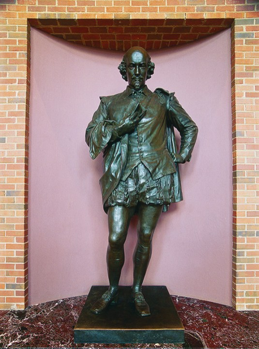 William Shakespeare overlooks passersby in the lobby of the Carolyn Blount Theater. (From Encyclopedia of Alabama, courtesy of Southern Living, Inc., photograph by Lacy Robinson)