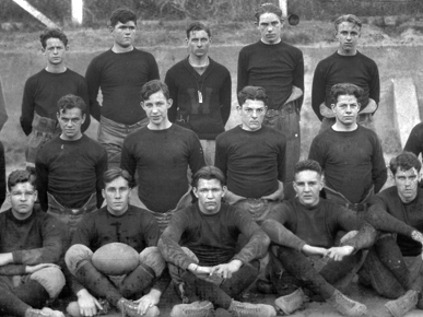 W. Stanley Hoole, back row center, and his Spartanburg, South Carolina, football team in 1924. Hoole taught and coached at Spartanburg High School following his graduation from St. John's Academy in Darlington. (From Encyclopedia of Alabama, courtesy of W.S. Hoole Special Collections Library, The University of Alabama Libraries)