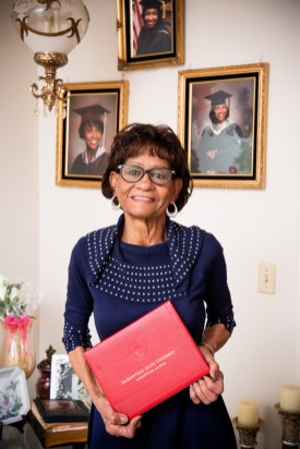Curry-Story's proudest achievements -- besides earning her degree at JSU-- are her children and grandchildren. (Nik Layman/Alabama NewsCenter)