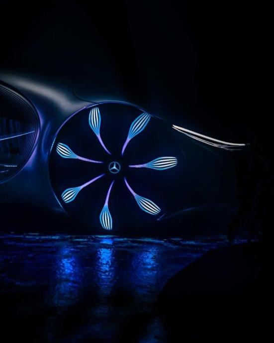 """The Mercedes-Benz AVTR is the latest electric concept designed in collaboration with the makers of the """"Avatar"""" films. (Mercedes-Benz)"""