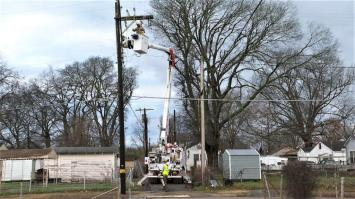 Alabama Power crews began restoring power as soon as storms moved through the state. (Alabama NewsCenter)